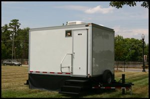 Women's portable restroom trailer